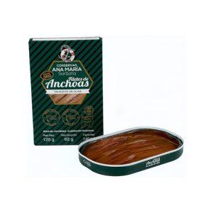 anchoas en aceite de oliva ana maria serie oro 120grs