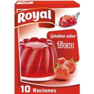 gelatina fresa royal