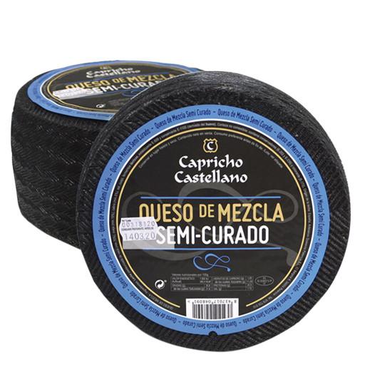 queso semi mezcla Capricho Castellano