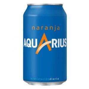 refrescos aquarius naranja lata