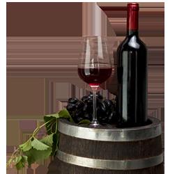vaso botella vino