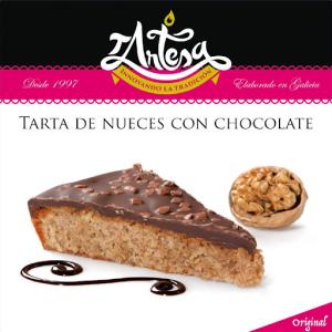 tarta nueces con chocolate tartesa