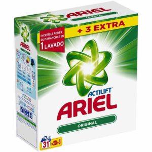 ariel detergente en polvo actilift 28 lavados 3 lavados