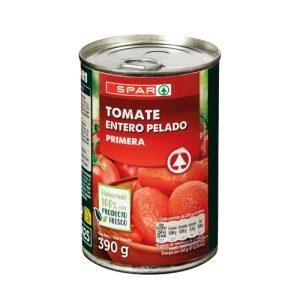 tomate entero pelado spar 390gr